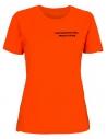 Koszulka ratownicza damska pomarańczowa fluo