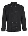 Bluza kucharska męska czarna z długim rękawem