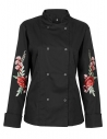 Bluza kucharska damska czarna z różami