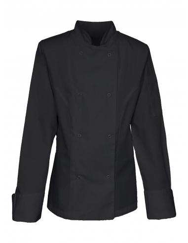 Bluza kucharska damska czarna z długim rękawem