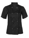 Bluza kucharska damska czarna z krótkim rękawem