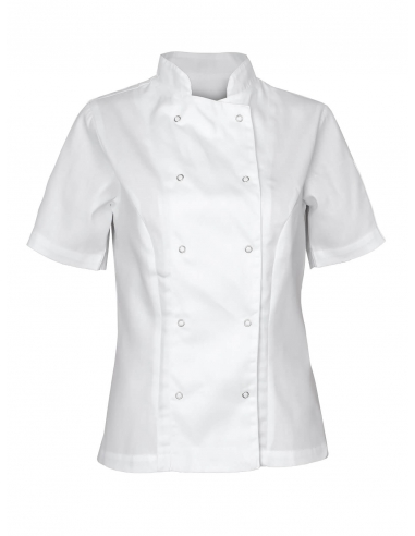 Bluza kucharska damska biała z krótkim rękawem