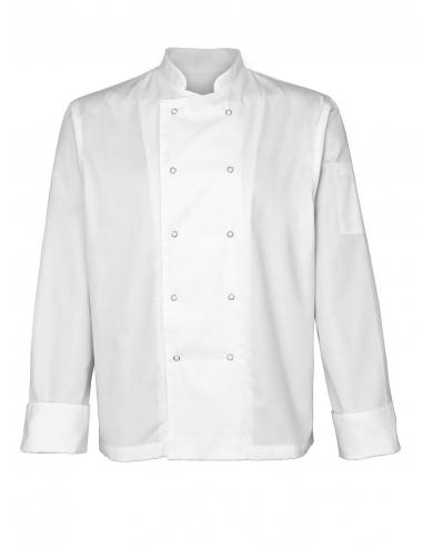 Bluza kucharska męska biała z długim rękawem