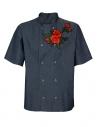 Bluza kucharska jeansowa męska z różami