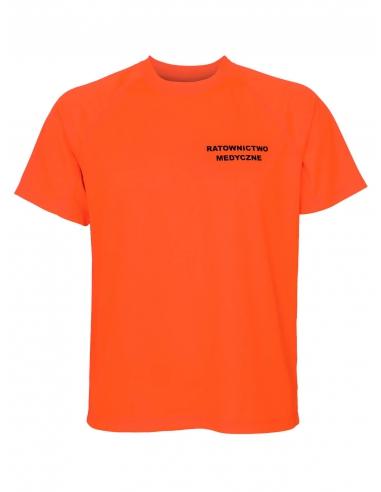 Koszulka ratownicza męska pomarańczowa fluo