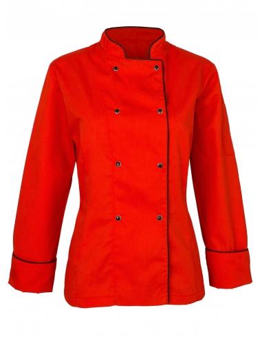 Bluza kucharska damska czerwona