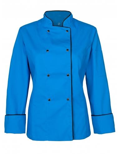 Bluza kucharska damska lazurowa