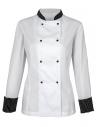 Bluza kucharska damska biała z paskami