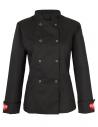 Bluza kucharska damska czarna z haftem serce