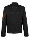 Bluza kucharska czarna męska z motywem maków