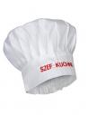 Czapka kucharska budyniówka biała z haftem Szef Kuchni