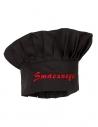 Czapka kucharska budyniówka czarna z haftem Smacznego
